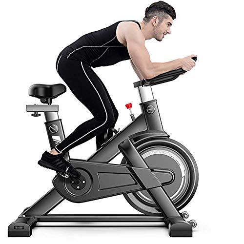 LMZZGAOYANQING Bicicleta de Ejercicios de Ciclismo Interior, Súper Mute Spinning Bike con Monitor de frecuencia cardíaca, Pantalla LCD, manillares Ajustables y Asiento para Uso doméstico y Gimnasio
