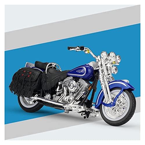 El Maquetas Coche Motocross Fantastico 1:18 Motocicleta De Aleación Simulación En Miniatura Para Harley 1999 FLSTS Modelo De Patrimonio Colección De Adultos Regalo Coche Juguete Regalos Juegos Mas Ven