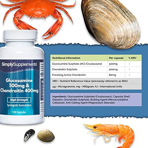 Glucosamina 500 mg e condroitina marina 400 mg - 120 capsule - SimplySupplements