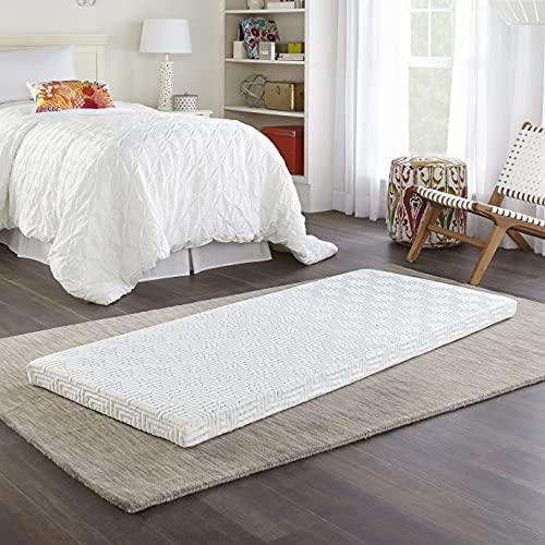 """Simmons BeautySleep Siesta Memory Foam Mattress: Roll-Up Guest Bed/Floor Mat, 3"""" Single"""