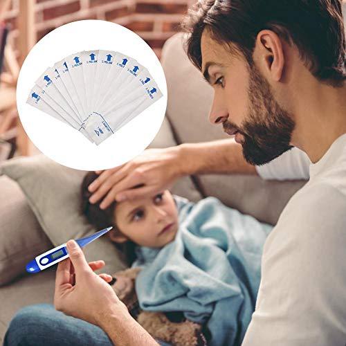 Ablerfly - Cubiertas para termómetro digital desechables, 100 unidades, para termómetros electrónicos, para termómetros orales, axilas rectales, termómetros seguros, funda para evitar contemporáneos