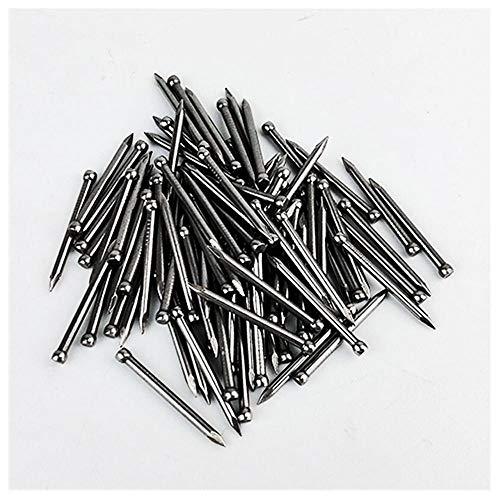 Clavos de pie, zócalos de madera maciza clavos de acero sin cabeza, 25 mm de largo-30 mm de largo * 300 piezas