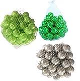 150 Bälle für Bällebad gemischt mix mit hellgrün, grau und grün