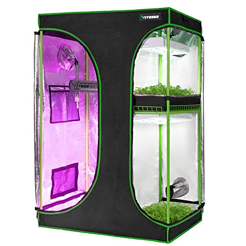 "VIVOSUN 2-in-1 48""x36""x72"" Mylar Reflective Grow Tent for Indoor..."