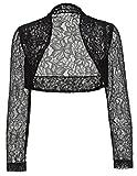 Soft Long Sleeve Floral Shrug Crop Jacket for Dresses JS49-1 L