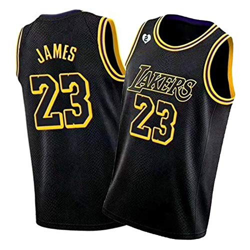 GDHA James Basketball Jersey Laker 23# Men Tops, 2020 New Season Sports Vest, Perfect for Outdoor Sports Black-L