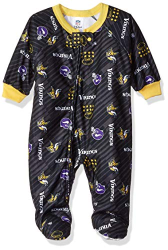 NFL Minnesota Vikings Unisex Blanket Sleeper, Purple, 2T