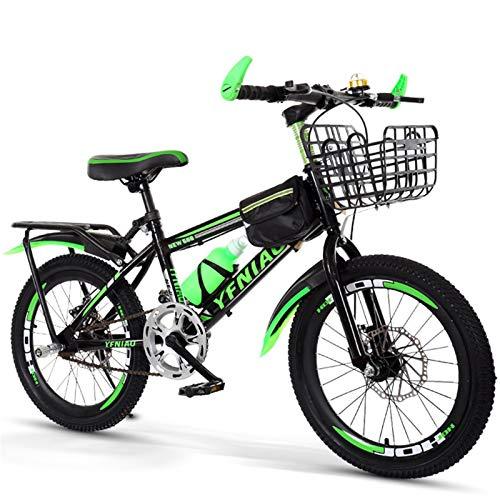 Bicicleta de montaña de 18 pulgadas con velocidad variable, ligera y resistente a los golpes, apta para niños y niñas