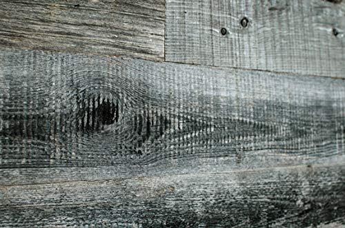 WoodyWalls Reclaimed Wood Planks   Wall Panels are Made from 100% Reclaimed Wood   Each Wood Plank is Unique   Set of 12 Barnwood Planks for Rustic Wall Decor   DIY Wood Panels (19.5 sq.ft.) Grey