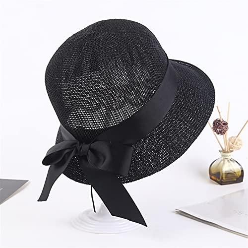 Sombrero Uv De Verano Para El Sol De Ala Ancha Gra Sombreros Para Mujeres Sombrero De Paja De Verano Mujer Plegable Al Aire Libre 2021 Sombrilla Hollowed Panamá Hat Beach Hats Fashion Elegante Gorra,