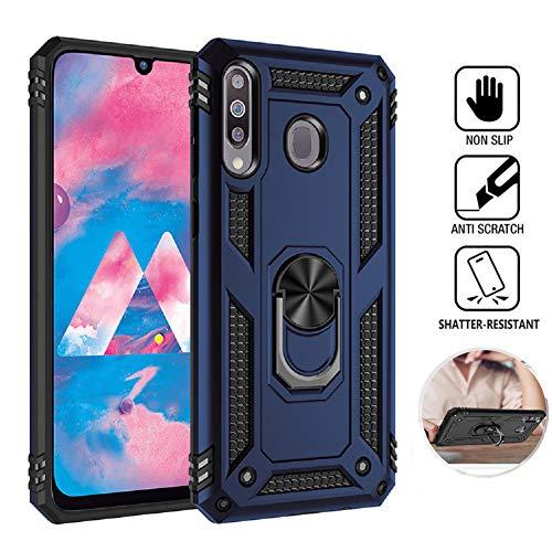 WINMI para Samsung Galaxy Note20 Funda,360 Anillo iman Soporte,extrafuerte protección contra Golpes Protectora Caso de Duro Cover Case para Samsung Galaxy Note20-Azul