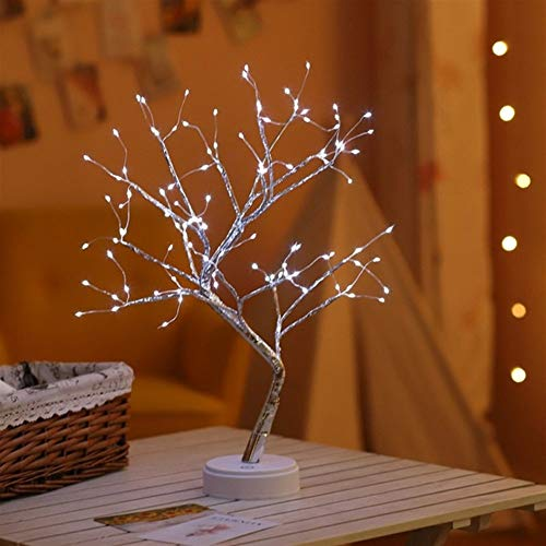 Grneric ShiDaTong LED Night Light Mini Christmas Tree Copper Wire Garland Lamp for Home Kids Bedroom Decor Fairy Lights Luminary Holiday Lighting (Emitting Color : 108leds White)