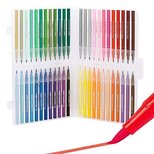 Lihgfw Acuarela suave cabeza Conjunto de lápiz for alumnos de jardín de infantes con 24 colores, 48 colores, 36 colores, pintura lavable no tóxico pluma for principiantes, pintado a mano de gran cap