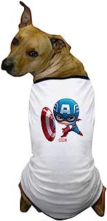 CafePress Chibi Captain America Stylized Dog T-Shirt
