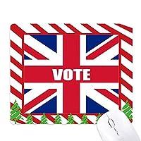 総選挙のための英国の英国国旗の票 ゴムクリスマスキャンディマウスパッド