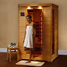 Hanko 1-2 Person Pre-built FAR Infrared Sauna - Highest Quality Hemlock Construction - 3 Premium Ceramic Heaters - Mp3/cd/stereo & Speakers Built in - Easy Control Panels - 5 Year Warranty - Easy Construction
