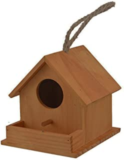 PINVNBY Wooden Bird House Cedar Birdhouses Hanging Wren Home Outdoors Hummingbird Houses for Dove Finch Wren Robin Sparrow Rest Nest Garden Patio Decorative