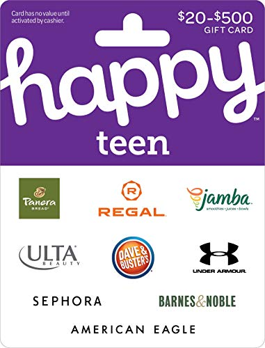 Buy $50, get $7.50 with code HAPPYTEEN at checkout