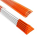 Tingyuan 48 Inch Driveway Markers with Reflective Tape Fiberglass Snow Stakes, Pack of 20