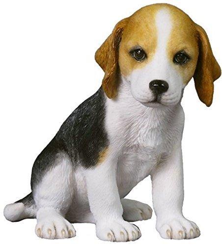 4.25 Inch Beagle Puppy Sitting Decorative Figurine, Brown and White