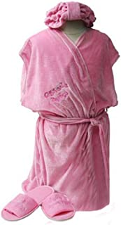 Girls Day Spa Value Birthday Party Favor Robe, Headband & Slipper Set (Choose Size)