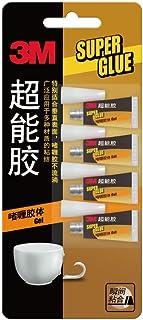 莫奈MONET 3M超能胶啫喱型胶水万能胶水透明胶体AD119速干胶0.5g*4支装