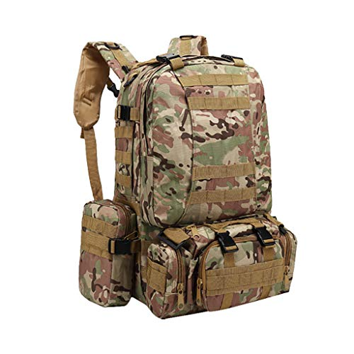 PMJAdd8s4 55L Outdoors Sports Military Tactical Backpacks, Army Trekking Hunting Hiking Rucksacks Bags Military Tactical Backpack Large Assault Pack Bag Rucksacks for Outdoor Camping Trekking.