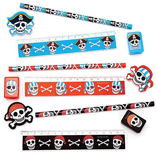 """Baker Ross 4-teiliges Briefpapier-Set """"Piraten"""" (3er-Pack), perfekt für Kinder Schulset, Hausaufgaben, Schulklassenarbeit, Partytaschenfüller, Geschenke und mehr"""