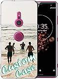 Coque de téléphone personnalisable compatible avec Sony Xperia Z3 - Coque transparente en TPU...