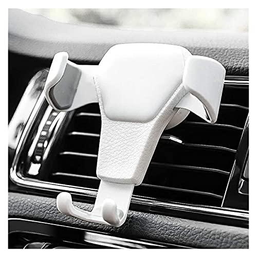 Porta Movil Para Coche Tenedor del teléfono del coche, clip de fijación de ventilación de automóviles, soporte para teléfono, soporte para teléfono Sujeta Movil Coche (Color : White)