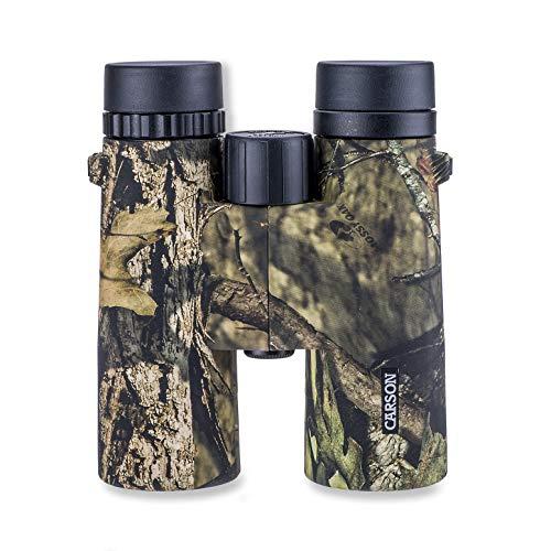 Carson JR Series 8 x 42 mm o 10 x 42 mm Prismáticos impermeables de tamaño completo para observación de aves, caza, observación de...