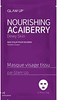 Sheet mask by glam up BTS Nourishing Acaiberry - Tighten, Firm Tired Skin. Regeneration Nature made Freshly packed Daily S...
