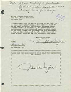 "John""Duke"" Wayne - Document Double Signed 08/01/1946"