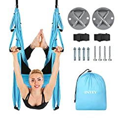 HEALTH BENEFIT OF THE YOGA TRAPEZE: INTEY aerial yoga helps to release the pain or pressure of neck, back and spine, enhance your hand strength by inversion therapy. The aerial silk is also a new innovative tool that gives the yoga enthusiasts a safe...