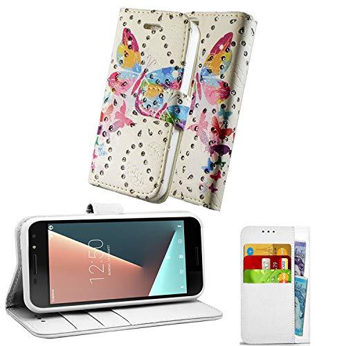 Phone doctorz Vodafone Smart Ultra 6 - Funda de piel con tapa para teléfono móvil, diseño de mariposas