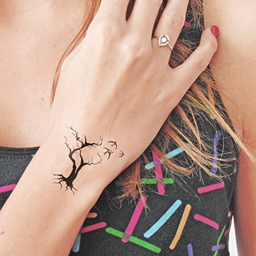 Tree birds - Temporary tattoo (Set of 2)