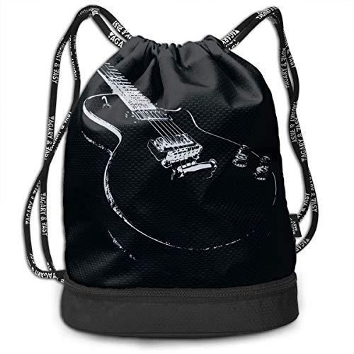 IUBBKI Mochila lateral negra Mochilas informales Gift for Guitarist Bundle Backpack