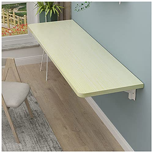 Mesa plegable montada en la pared,Mesa de comedor plegable pequeña de madera,Mesa de ordenador plegable de arce blanco