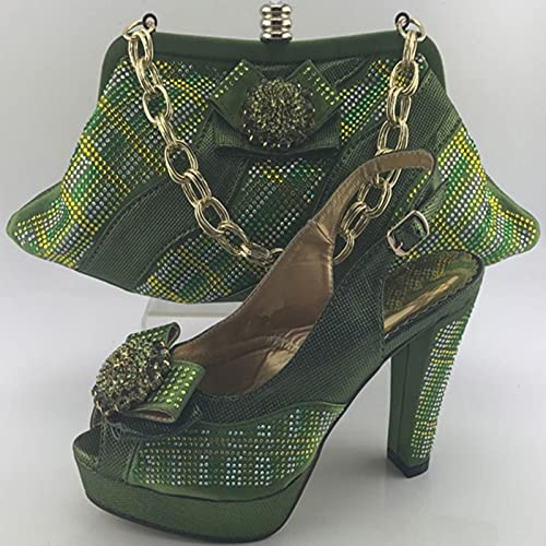 ZXCN Conjunto de Zapatos y Bolsos de diseñador Decorado con Zapatos de...