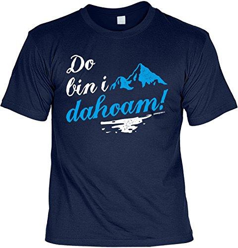 Wanderer Bergsteiger Sprüche T-Shirt Naturfreunde : Do Bin i dahoam! -Tshirt Berge Wandern Klettern Gr: XXL