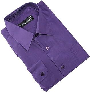 Ozmoint Camisas de manga larga para niños, formales, color negro y colores, para bodas, bailes, ceremonias, fiestas (6 mes...