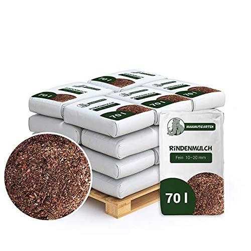 MammutGarten Rindenmulch Kiefer Rinde Garten Fein 10-20mm 70l Sack x 18 STK (1260 L)