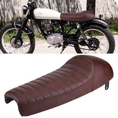 Sillín Hump Cafe Racer Cushion Cafe Racer para una amplia aplicación para impermeabilidad(Camel)
