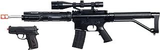 UKARMS P1136 Marksman Sniper Spring Airsoft Rifle & Pistol Combo Gun Set FPS 260, Black