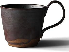 Beverage Mugs Handmade Stoneware Coffee Cup with Personalized Large Handle Coffee and Tea Mug Colorful Glaze Art Breakfast...