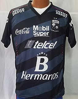 New! Liga MX Club Deportivo Leon Black Jersey 2016-2017 (L)