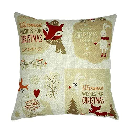 Preisvergleich Produktbild JoyRolly Weihnachten Weihnachten Schlafsofa Home Decoration Festival Kissenbezug Kissenbezug C