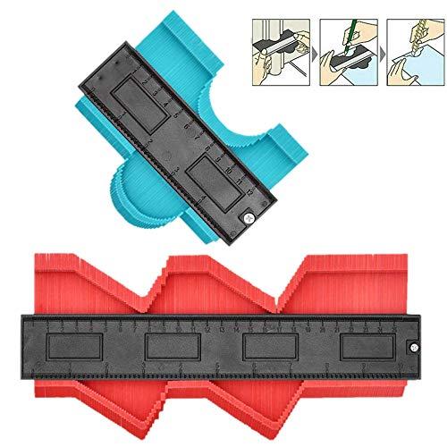 Odowalker 輪郭ゲージ 型取りゲージ 不規則な型取り定規 2点セット 120mm-250mm 自在曲線定規 コンターゲージ 不規則 曲線定規 輪郭コピー 不規則な測定器 ABS目盛付き