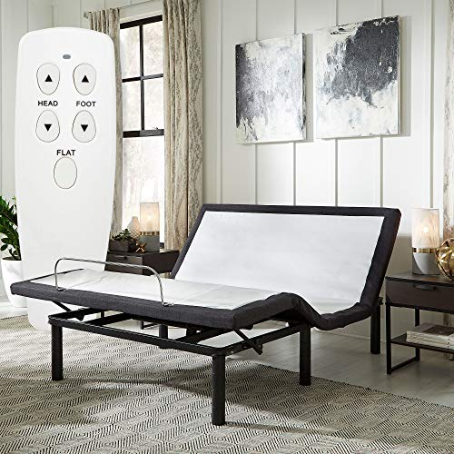 Blissful Nights e3 Queen Adjustable Bed Base with Wireless Remote Head and Foot Incline and No Tools Required Assembly