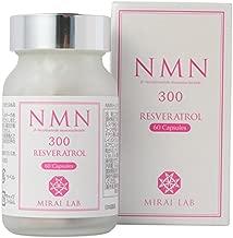【 NMN+レスベラトロール(60カプセル)】 NMN β-ニコチンアミドモノヌクレオチド 300mg 配合